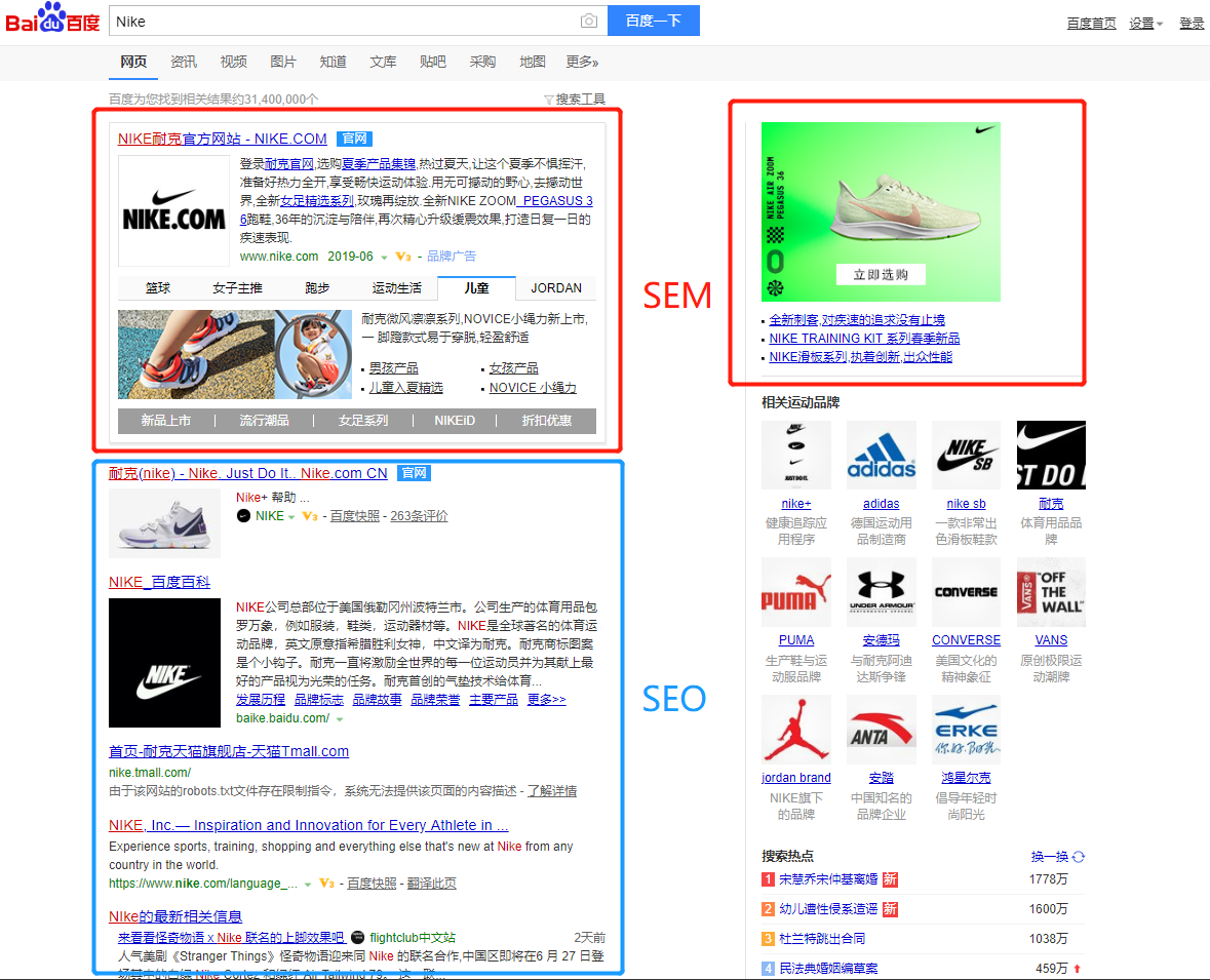 Baidu SEM vs SEO : Differences of Baidu Advertising