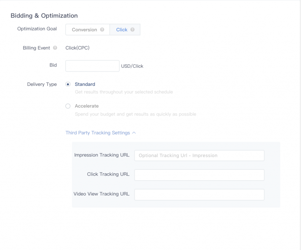 Select your ad spending, duration, and goals